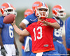 Florida freshman quarterback Trey Burton works out during the Gators' first day of spring practice on Wednesday, March 17, 2010 at the Sanders football practice fields in Gainesville, Fla. / Gator Country photo by Tim Casey