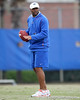 Florida defensive coordinator Teryl Austin coaches during the Gators' first day of spring practice on Wednesday, March 17, 2010 at the Sanders football practice fields in Gainesville, Fla. / Gator Country photo by Tim Casey
