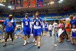 The Florida Gator quarterbacks walk into the Stephen C O'Connell Center for the 2014 Florida Gator Fan Day.  August 16th, 2014. Gator Country photo by David Bowie.
