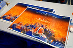 The Florida Gators 2014 Florida Gator Fan Day poster that the fans were able to have signed by the teams.  August 16th, 2014. Gator Country photo by David Bowie.