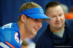 Florida Gator QB Jeff Driskel takes a photo with some fans during the 2014 Florida Gator Fan Day.  August 16th, 2014. Gator Country photo by David Bowie.