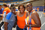 A few of the Florida Gator football players mothers pose for the camera during the 2014 Florida Gator Fan Day.  August 16th, 2014. Gator Country photo by David Bowie.