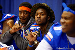 Florida Gator DL Dante Fowler, Jr. and DL Alex McCalister poses for the camera during the 2014 Florida Gator Fan Day.  August 16th, 2014. Gator Country photo by David Bowie.