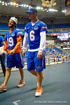 Florida Gator QB Jeff Driskel walks to his table for the 2014 Florida Gator Fan Day.  August 16th, 2014. Gator Country photo by David Bowie.