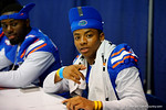 Florida Gator DB Vernon Hargreaves, III poses for the camera during the 2014 Florida Gator Fan Day.  August 16th, 2014. Gator Country photo by David Bowie.