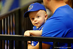 A young fan smiles for the camera during the 2014 Florida Gator Fan Day.  August 16th, 2014. Gator Country photo by David Bowie.