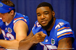 Florida Gator OL Chaz Green poses for the camera during the 2014 Florida Gator Fan Day.  August 16th, 2014. Gator Country photo by David Bowie.