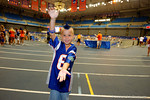 A young Florida Gator fan poses for the camea during the 2014 Florida Gator Fan Day.  August 16th, 2014. Gator Country photo by David Bowie.