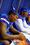 Florida Gator OL Trenton Brown signs a poster for a fan during the 2014 Florida Gator Fan Day.  August 16th, 2014. Gator Country photo by David Bowie.