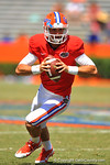 Florida QB Will Grier scrambles downfield for a first down.  2014 Orange and Blue Debut.  April 12th, 2014. Gator Country photo by David Bowie.