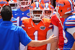 Florida DB Vernon Hargreaves, III stands in the tunnel waiting to take field.  2014 Orange and Blue Debut.  April 12th, 2014. Gator Country photo by David Bowie.
