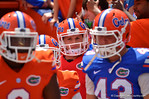 Florida QB Jeff Driskel in the tunnel to take the field.  014 Orange and Blue Debut.  April 12th, 2014. Gator Country photo by David Bowie.