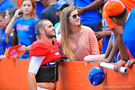Florida QB Will Grier poses for a photo with a fan.  2014 Orange and Blue Debut.  April 12th, 2014. Gator Country photo by David Bowie.