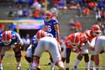 Florida K Austin Hardin lines up for the field goal attempt.  2014 Orange and Blue Debut.  April 12th, 2014. Gator Country photo by David Bowie.