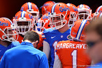 The Gators stand in the tunnel waiting to run onto the field and start the game.  2014 Orange and Blue Debut.  April 12th, 2014. Gator Country photo by David Bowie.