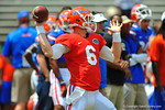 Florida QB Jeff Driskel throws downfield during pre-game.  2014 Orange and Blue Debut.  April 12th, 2014. Gator Country photo by David Bowie.