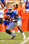 Florida WR Ahmad Fulwood cathes the swing pass.  2014 Orange and Blue Debut.  April 12th, 2014. Gator Country photo by David Bowie.