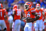 Florida DB Keanu Neal waits for play to resume.  2014 Orange and Blue Debut.  April 12th, 2014. Gator Country photo by David Bowie.