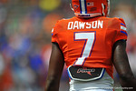 Florida DB Duke Dawson during pre-game for his first Orange and Blue game.  2014 Orange and Blue Debut.  April 12th, 2014. Gator Country photo by David Bowie.