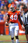 Florida LB Jarrad Davis.  2014 Orange and Blue Debut.  April 12th, 2014. Gator Country photo by David Bowie.
