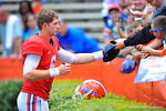 Florida QB Jeff Driskel signs autographs for the fans following the game.  2014 Orange and Blue Debut.  April 12th, 2014. Gator Country photo by David Bowie.