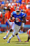 Florida WR Latroy Pittman sprints downfield.  2014 Orange and Blue Debut.  April 12th, 2014. Gator Country photo by David Bowie.