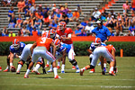 Florida QB Skyler Mornhinweg lines up for his first drive of the game.  2014 Orange and Blue Debut.  April 12th, 2014. Gator Country photo by David Bowie.