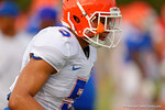 Florida Gator freshman DB Jalen Tabor sprints to the endline while warming up for practice.  August 8th, 2014. Gator Country photo by David Bowie.
