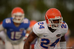 Florida DB Brian Poole shuffles downfield during a practice drill.  August 8th, 2014. Gator Country photo by David Bowie.