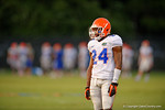 Florida Gator DB Brian Poole watches on during practice.   August 8th, 2014. Gator Country photo by David Bowie.