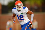 Florida Gator freshman DB Quincy Wilson sprints upfield during a warmup drill at practice.  August 8th, 2014. Gator Country photo by David Bowie.