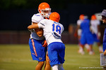 Florida defensive linemen Jordan Sherit and Justus Reed compete during a drill at practice.  August 7th, 2014. Gator Country photo by David Bowie.
