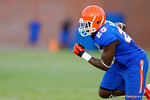Florida FB Gideon Ajagbe sprints downfield during practice.  August 7th, 2014. Gator Country photo by David Bowie.