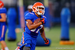 Florida RB Mark Herndon sprints downfield during a practice drill.  August 7th, 2014. Gator Country photo by David Bowie.