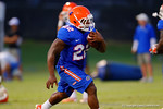 Florida Gator RB Adam Lane sprints downfield during a practice drill.  August 7th, 2014. Gator Country photo by David Bowie.