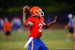 Florida Gator QB Treon Harris throws downfield during a practice drill.  August 7th, 2014. Gator Country photo by David Bowie.