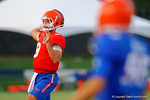 Florida QB Jacob Guy throws downfield during a practice drill.  August 7th, 2014. Gator Country photo by David Bowie.