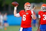 Florida QB Jeff Driskel throws downfield during the Gators open practice.  August 7th, 2014. Gator Country photo by David Bowie.