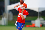 Florida Gator QB Jeff Driskel throws downfield during the Gators open practice.  August 7th, 2014. Gator Country photo by David Bowie.