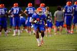 Florida Gator RB Mack Brown back sprints during a drill at practice.  August 7th, 2014. Gator Country photo by David Bowie.