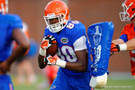 Florida Gator freshman wide receiver C'yontai Lewis runs through a block during practice.  August 7th, 2014. Gator Country photo by David Bowie.