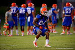 Florida RB Matt Jones back sprints during a drill at practice.  August 7th, 2014. Gator Country photo by David Bowie.