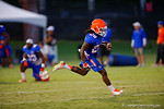 Florida Gator RB Brandon Powell sprints downfield during a practice drill.  August 7th, 2014. Gator Country photo by David Bowie.