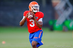 Florida Gator freshman QB Treon Harris throws downfield during the Gators open practice.  August 7th, 2014. Gator Country photo by David Bowie.