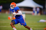 Florida Gator WR Latroy Pittman sprints downfield following a catch during practice.  August 7th, 2014. Gator Country photo by David Bowie.
