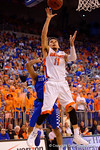 Florida Gators guard Chris Chiozza with a lay up during the first half.  Florida Gators vs Kentucky Wildcats.  February 7th, 2015. Gator Country photo by David Bowie.