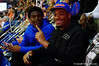 Florida Gators football commit CeCe Jefferson poses for the camera while watching the game.  Florida Gators vs Kentucky Wildcats.  February 7th, 2015. Gator Country photo by David Bowie.