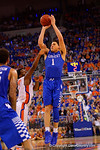 Kentucky Wildcats guard Devin Booker with a shot attempt during the second half.  Florida Gators vs Kentucky Wildcats.  February 7th, 2015. Gator Country photo by David Bowie.
