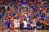 A few Kentucky fans try to distract Florida Gators guard Kasey Hill during his free throw attempts.  Florida Gators vs Kentucky Wildcats.  February 7th, 2015. Gator Country photo by David Bowie.