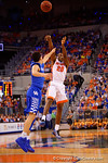 Florida Gators guard Michael Frazier II drains a three pointer during the first half.  Florida Gators vs Kentucky Wildcats.  February 7th, 2015. Gator Country photo by David Bowie.